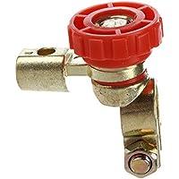 Interruptor de la bateria - SODIAL(R)Interruptor de la bateria enlace conmutador Desconectar de corte rapidamente Coche Camion Piezas de vehiculos Rojo (interruptor de la bateria 3)