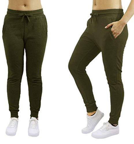 abb50536ef8e64 Galaxy by Harvic Womens Loose fit Joggers - Olive -Size XL