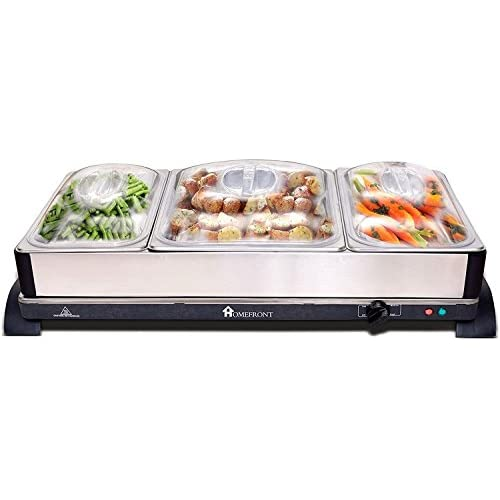 41v6F KzhZL. SS500  - HOMEFRONT 2 in 1 X LARGE PRO-SERIES BUFFET/HOT TRAY FOOD SERVER (EXTRA LARGE CAPACITY 10.5 LITRES)
