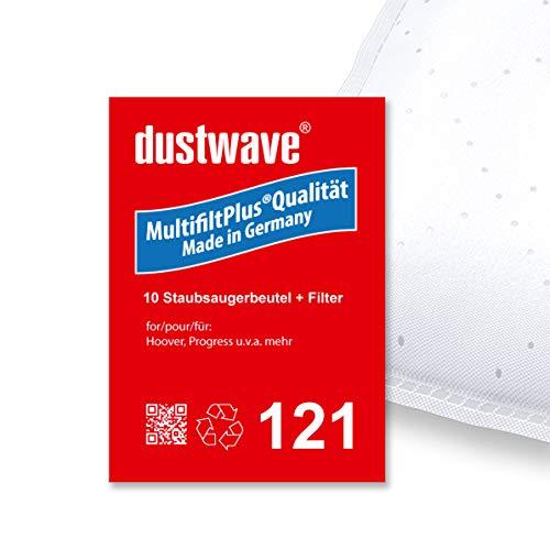 """Sparpack - 10 dustwave® Premium-Staubsaugerbeutel geeignet für Hoover - SC 252 Compact Super Sprint Bodenstaubsauger - mehrlagige Microvlies-Filtertüten""""Made in Germany"""" inkl. Microfilter"""
