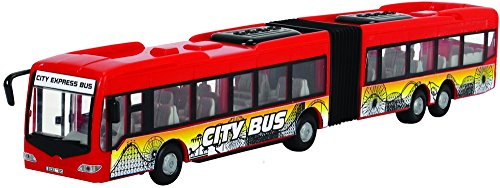 Dickie Toys 203748001312 - City Express Bus, Gelenkbus, Fahrzeug, 46 cm, zufällige Farbauswahl -