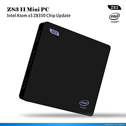 Beelink Z83 II Mini PC Windows 10 mit 2GB DDR3 + 32GB ROM Intel Atom x5-Z8350 Processor HD Graphik 400 Small Desktop PC 1000Mbps/LAN 2.4+5.8GHz Wifi BT4.0