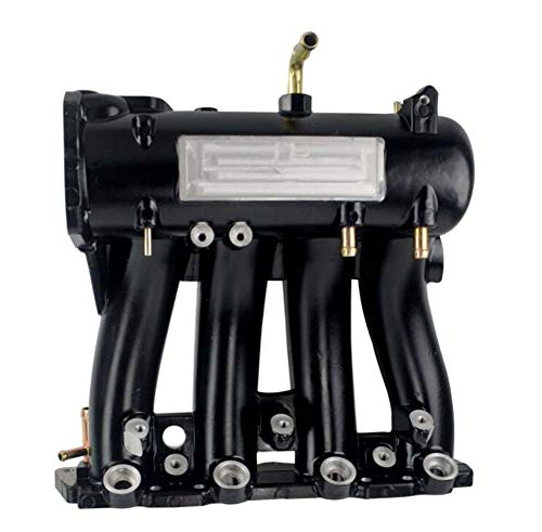 SHIMOTOO Neue Intake Manifold geeignet für Honda Civic D-Serie 88-00 Black and Silver,Black 8800-serie