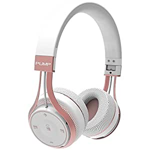 BlueAnt Pump Soul Bluetooth Wireless Sport Headphones - White Rose Gold