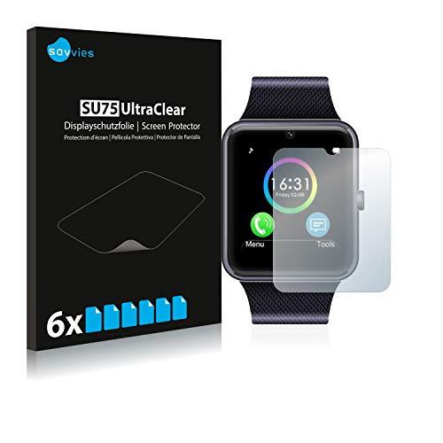 savvies 6-Pezzi Pellicola Protettiva Compatibile con Yamay Bluetooth Smartwatch SW016 Protezione Schermo Trasparente