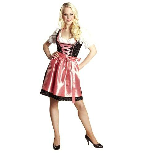 Dirndl Fritzi schwarz rosa ca. 60er L. (40) (Traditionelles Dirndl Kostüm)