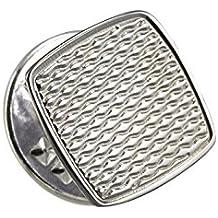 Sayers London - Tie Tack / spillino fermacravatta quadrato con lavorazione a chicco di riso in argento Sterling
