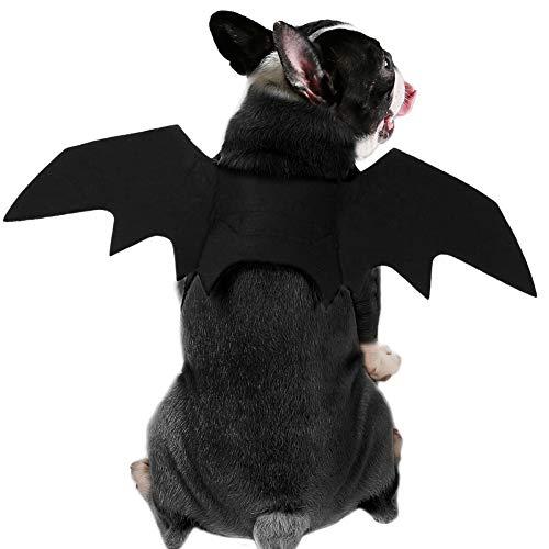 Mops Kostüm Einfach - Doubleer Halloween Requisiten Haustiere Fledermausflügel Haustier Hund Katze Fledermausflügel Cosplay Prop Halloween Vampir Fledermaus Kostüm Outfit Flügel (3 Größe Schwarz)