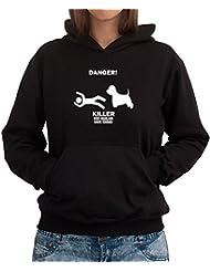 DANGER ! KILLER West Highland White Terrier Women Dame Hoodie