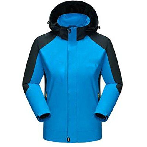 WU LAI Herren Jacken Herbst Thin Four Seasons Jacken Breathable Mountaineering Wear Outdoor Bekleidung,Sapphire-XXXXXL (Jacke Wear Wu)