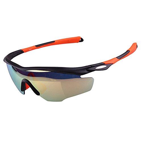 Yiph-Sunglass Sonnenbrillen Mode Helle Bunte polarisierte Unisexsport-Sonnenbrille, die den Baseball-laufenden Fischen-Golf-Klettern radfährt (Farbe : Orange)