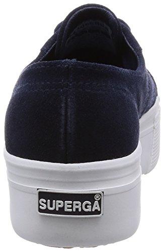 Superga 2790-suew, Pompes à plateforme plate femme Blu (Blue Lt)