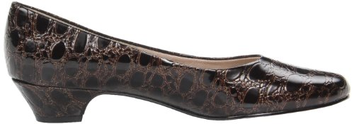 Soft Style Women's Angel II Dress Pump,Putty Elegance,10 M US Dark Brown Crocodile