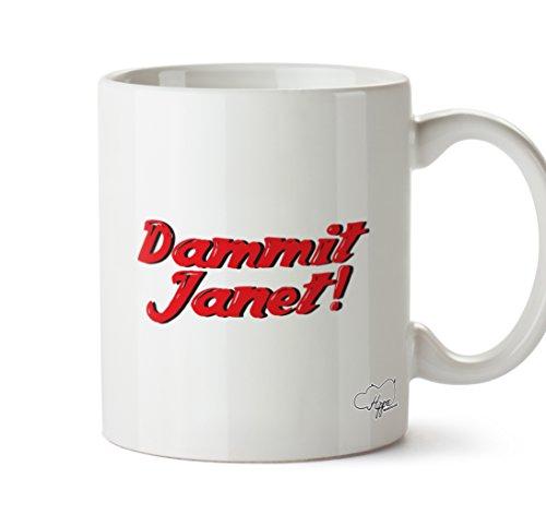 hippowarehouse verdammt nochmal Janet 283,5Tasse, keramik, weiß, One Size (10oz)