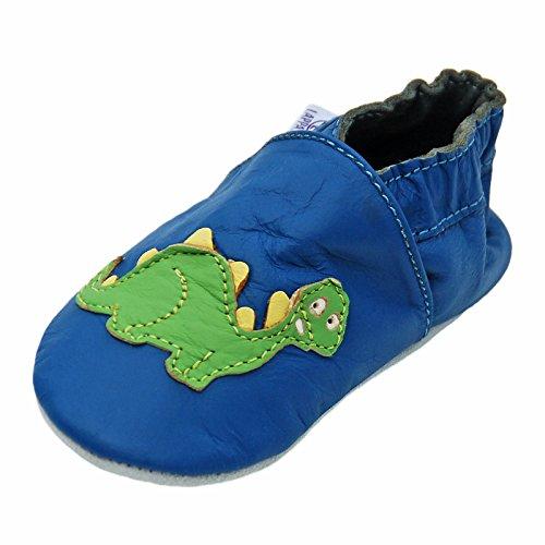 Zapatillas De Cuero Pantuflas Zapatos Infantiles Zapatos de gateo Bebé Zapatillas de Ballet Cuero Con Suela De Goma gr.19-31 lappa.de