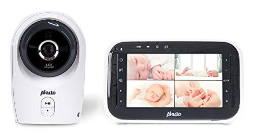 Alecto DVM-143 Funk Babyphone (100% störungsfrei & privat), mit schwenkbarer video Kamera, Nachtsicht, Gegensprechfunktion, hohe Reichweite von bis zu 300 Meter, 11 cm. erweiterbar bis zu 4 Kameras Erweiterbar Video