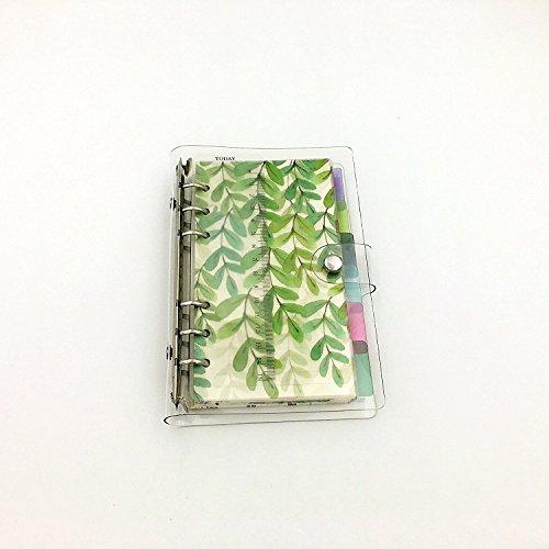 6 Ringbuch-kalender Refill (A66-Ring-Loose Leaf Binder Zeitschrift aus Chris Wang, W/80Seiten (Dot Grid/quadratisches Raster/liniert/blanko) + 6Index Register + 1transparent Seite maker + 1Ziploc Tasche enthalten, nachfüllbar A6 Full Kit)