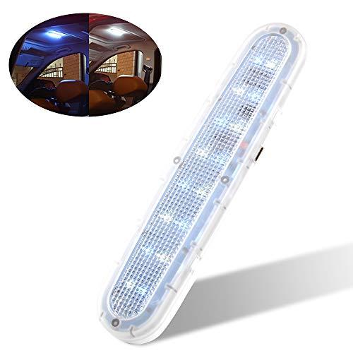 Auto tetto soffitto interno luci 6500K 16 LED Ricarica USB Luce di lettura,Luce del bagagliaio,Luci targa,Luci per porte-bianco e blu