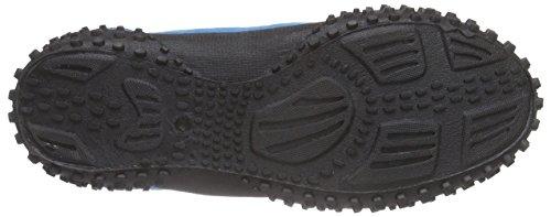 Playshoes Badeschuhe, Aquaschuhe, Surfschuhe Neonfarben, Chaussures de Sports Aquatiques Mixte Adulte Bleu (blau 7)