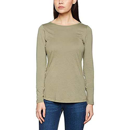 New Look Petite Women's Crew T-Shirt, Green (Dark Khaki), 6 UK (34 EU)