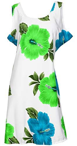 LA LEELA Bademoden verschleiern Strand Kimono Plus Size Grün_Y298 DE Größe: 42 (L) - 50 (3XL) - Plus-kimono
