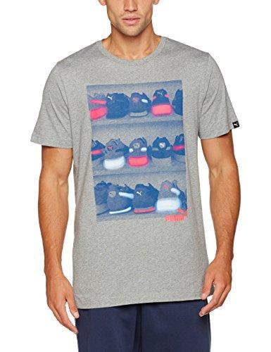 Puma Baskets photo Thé T-shirt Gris