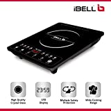 iBELL Glass 2000 W Induction Cooktop Crown 102Y with Auto Shut Off and over Heat Protection (Black)