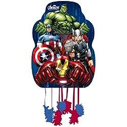 Los Vengadores - Piñata perfil para cumpleaños y celebraciones, 33x46 cm (Verbetena 014300054)
