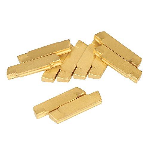 KKmoon 10 teile/schachtel MGMN200-G 2mm Breite Hartmetalleins?tze für MGEHR/MGIVR Drehmaschine Einstechen Cut-Off-Tool -