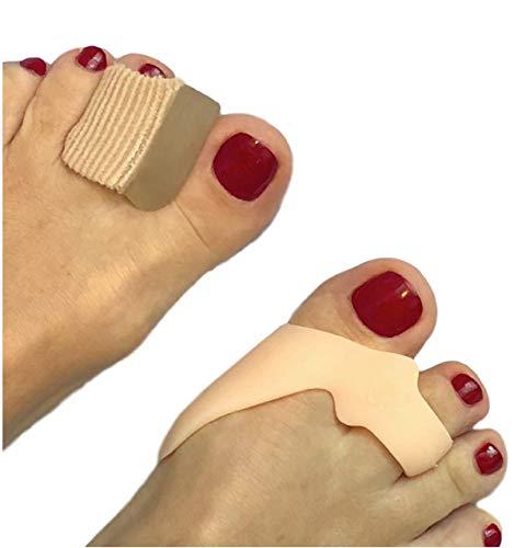 Alluce valgo correttore - set di 4 distanziatori per le dita dei piedi e cuscinetti per l'alluce valgo - correttore e sollievo per hallux valgus - formato unico per donna uomo