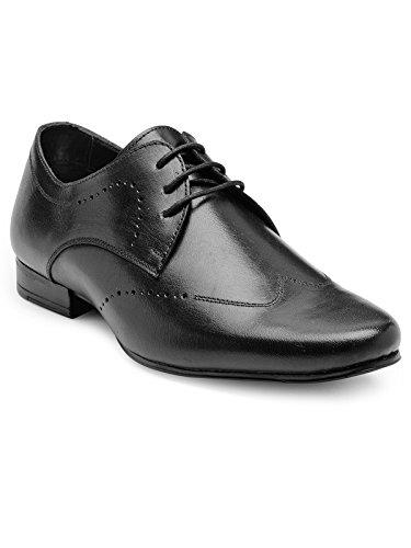 Franco Leone Men's Black Leather Formal Shoes - 9 UK/India (43 EU)