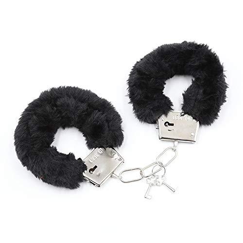 US-DXB Handschellen & Augenmaske und Federn aus angenehm weichem Plüsch