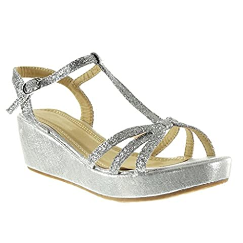 Angkorly - Women's Fashion Shoes Sandals - platform - t-bar