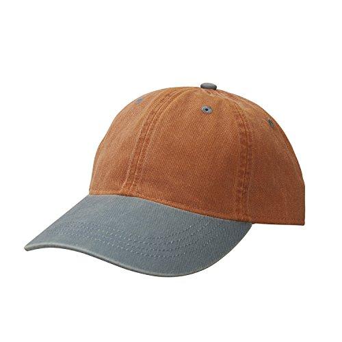 Ouray Sportswear Unisex-Erwachsene Canyon Cap Hut, Vintage Rust/Steel, Einstellbar Athletic Vintage Cap