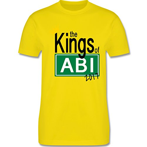 Abi & Abschluss - The Kings of Abi 2017 - Herren Premium T-Shirt Lemon Gelb