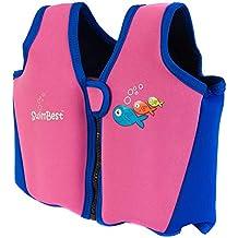 Swimbest Chaleco de Natación - 16 Meses -3 Años - Rosa y Azul Marino (