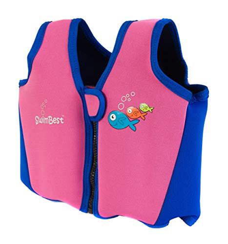 Swimbest - Baby/Kinder - Schwimmjacke / Schwimmweste aus Neopren, Pink/Marineblau, 3 - 4 Jahre (Bis zu etwa 30 kg)