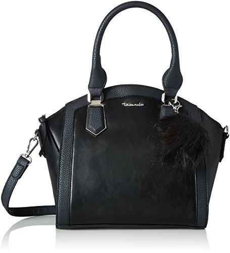 Beige Boston Bag (Tamaris Damen Elsa Henkeltasche, Schwarz (Black Comb), 16x25x27 cm)