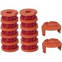 Yardwe Línea de plástico ABS Universal Bump Cutting Trimmer Head Cuerdas de Corte para cortadores de Cepillo para césped Strimmers Carretes de Repuesto (Rojo)