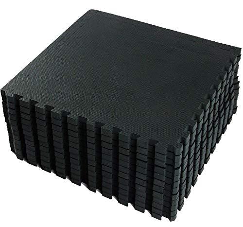 vlfit tappeto da fitness a puzzle - set di 18 pezzi | superficie di protezione per pavimenti | materassino per palestra, workout, ginnastica, efficace contro i liquidi e urti