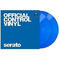 "Serato SCV-PS-BLUE-2 - Plato de vinilo para tocadiscos (2 unidades, 12""), color azul"