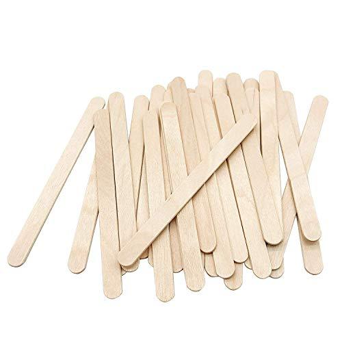 LVHERO Eisstiele, 200 Stück Holzspatel Eisstiele Aus Holz Zum Basteln ideal für EIS am Stiel, Waxing und Basteln