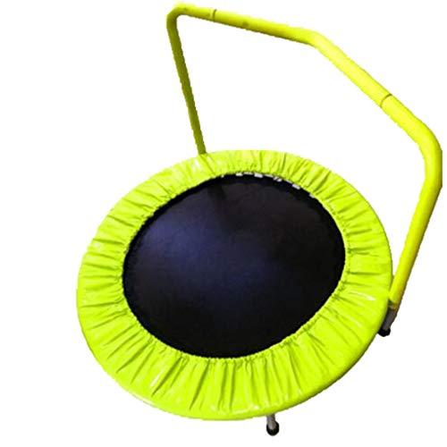 JHNEA Indoor Trampolin, Fitness Trampolin mit Haltegriff Griff Mini Trampolin Workout Trampolin Sprungmatte Rebounding für Kinder & Erwachsene,36in