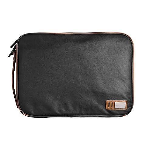 Laptop Tasche Schutzhülle pro 13,3 Zoll Handtasche schwarz\Khaki, 13,3 Zoll, schwarz