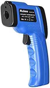 Nubee FDA Approved Temperature Gun Non-contact Infrared IR Thermometer Range -58F to 1382F w/ Laser Sight