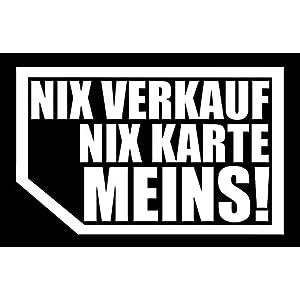 Nix Verkauf Nix Karte Meins Aufkleber Günstig Online Kaufen