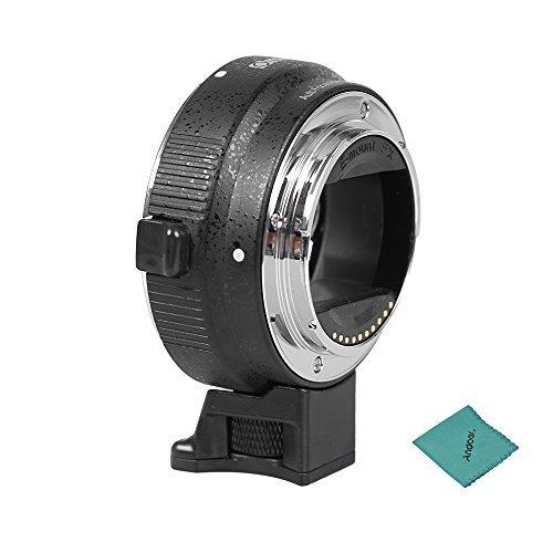 Commlite Automatik Objektivadapter für Canon EF / EF-S Objektiv an Sony NEX3, NEX5,NEX6,NEX7, A5000 A6000 EVIL Serie Kameras mit Autofokus & Blendeeinstellung Funktionen