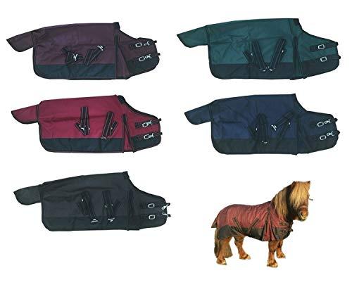 NETPROSHOP Pferde Outdoor Regendecke Ungefüttert für die Kleinen, Groesse:115, Farbe:Weinrot