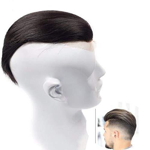 Perücken für Männer Menschenhaar Natur Schwarz Herren Haar System
