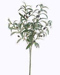 Idea Regalo - Jarown 2pz 71,1cm verde piante artificiali frutta oliva rami piante foglie finti per home office mestieri decorazione